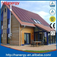 Hanergy home solar power system with 5kw thin film solar cell on flat roof