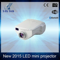 New 2015 2d led mini proyector Support TV/Phone/Video portable for home theater