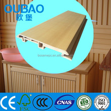 2015 construction building modern house interior decoration wood plastic composite WPC low price hardboard siding