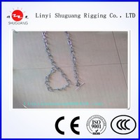 DOG LEAD WITH NYLOY HANDLE ANMAL CHAIN