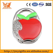 Promotional folding Red Apple Design cheap bag hanger/hook