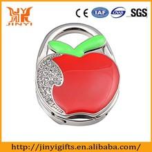 Promotional folding Red Apple Design cheap bag hanger/hook