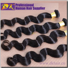 Guangzhou DK BL Tangle shedding free Cheap full and thick remy natural body wave 100% human peruvian virgin hair