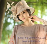 Ladies Top Sale Sinamay Plain Dyed Hats MM - 0009