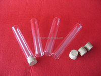 customized clear quartz glass test tube