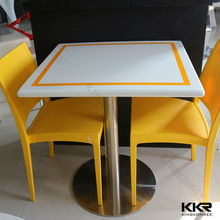 vendita calda forma quadrata piani di tavolo in marmo per esterni