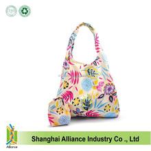 Reusable shopping bags foldable compact environmentally friendly nylon grocery bag