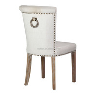 Modern design with Head nail Fabric Dining/ Living / Hotel Ring back chair
