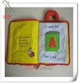 tocar e sentir macio tecido pano livro educacional brinquedo de pelúcia para bebês