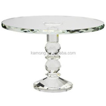 Decorative crystal glass cake stand for wedding cake