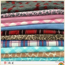 stock pattern printed anti pill fleece fabric for autumn and winter season blankets
