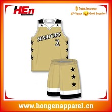 Hongen apparel sublimation print basketball apparel with your logo, name and number