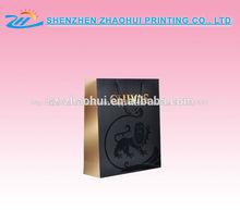 reciclable personalizada impresa de compras de papel bolso de la marca nombre