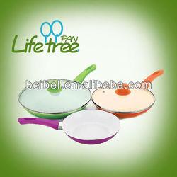 New colorful cookware aluminum ceramic fry pan