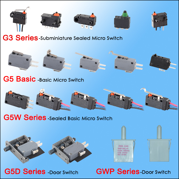 mini micro switch for household appliance