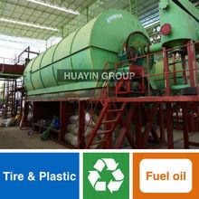 Huayin Brand Green Tech Waste Plastic Recycling To Diesel Machine