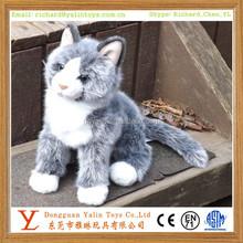 Stuffed Gray Cat Cloudy Grey Plush Cat