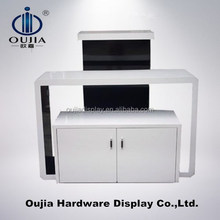 white display table in store display, commercial furniture office use