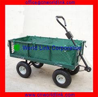 Steel Mesh 4 Wheels Foldable Garden Trailer