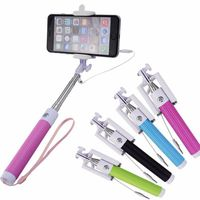 Colorful selfie stick for huawei ascend p6 , hot sell wired selfie stick , Brand folding selfie stick monopod .
