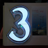 Little Acrylic Hotel Led Number Room Door Signs