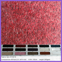 80%Acrylic 20%wool knit sweater fabric for Fashion coat