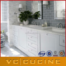 Exported to North-American cheap white bathroom vanity