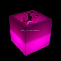 led glow open display ice bucket cube