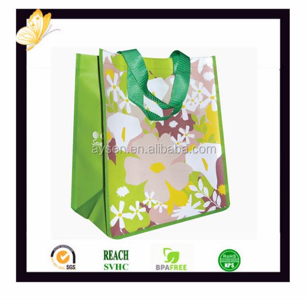 Atacado personalizado promocional grande pp tecida saco de compras sacola das mulheres