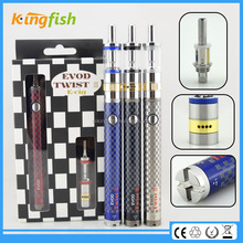kingfish product 3.2-4.8v variable voltage battery evod twist 3 m16 cigarette shisha pen free sample for china wholesale