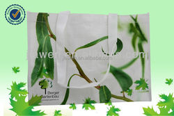 green Eco-friendly pp woven shopping bag/Customized Logo PP Woven Shopping Bag
