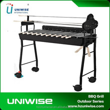 Outdoor BBQ portable and foleding babecue grill /adjustable height metal table legs