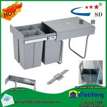 dustbin garbage bin built-in kitchen drawer waste bin grease trap for kitchen