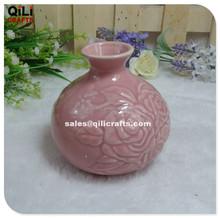 ceramic rose pattern vase Mordern porcelain vase