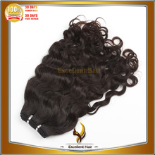 virgin unprocessed indian human hair weaving no shedding natural color natural curl indian hair extensions