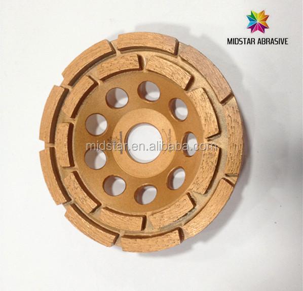 double row cup wheel