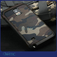 TPU+PC camouflage two in one shockproof smartphone case for samsung galaxy note 4/5