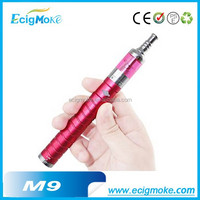 Ecigmoke NEW!!! Colorful vaporizer M9 with Battery capacity 1600 mah voltages adjustable ecig M9 mod