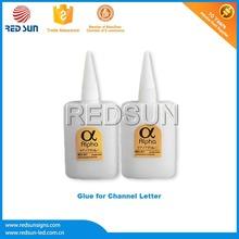 Polyvinyl acetate plastic glue bottle for LED Illuminated Letter