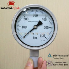 wika All stainless steel liquid filled pressure gauge with DIN bayonet ring