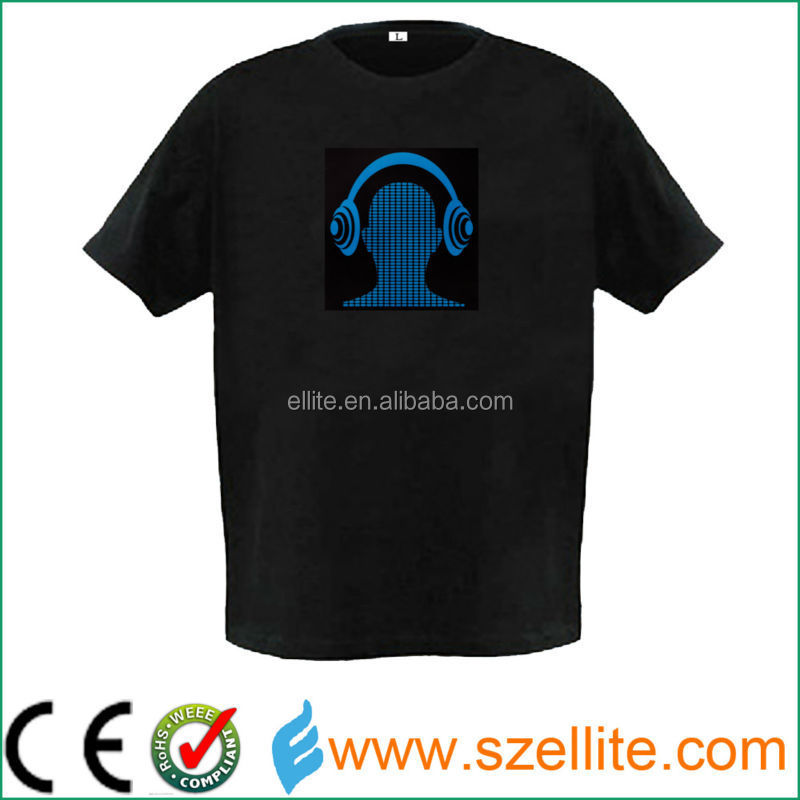 2015 year fashionable flashing led light t-shirt for party