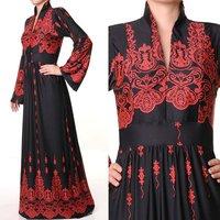 Muslim Islamic Long Sleeves Jersey Abaya Dress
