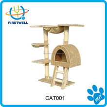 New design rubber cat tree /wooden cat furniture/indoor pet product