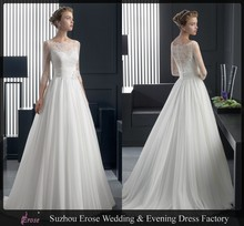 MGA-028 2014 Elegant lace Half sleeve Alibaba Wedding Dress