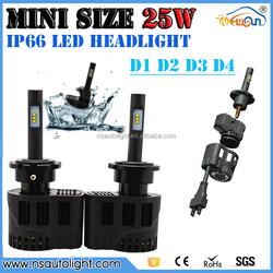 D1 25W 3200LM LED headlight bulb kit,LED car headlight,Auto lighting system D1 D2 D3 D4