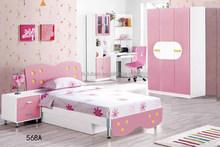 Factory price children pink girls bedroom furniture