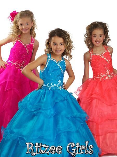 e10a59585 Elegant Designer Flower Girl s Dresses Halter Beadwork Girls .