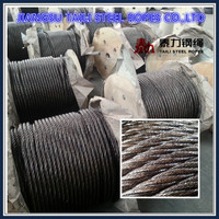ungalvanized steel wire rope with layer strand asphalt grease for fishing