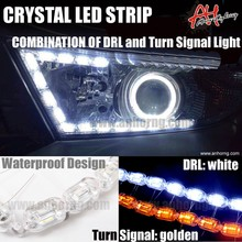 Strechable Led Strip Light Double Color Crystal Streched Tube Light Flexible Led DRL led daytime running light chevrolet cruze