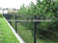 road side PVC Welded Curved prevention Wire Mesh Fence Panel/Security Fence Panel/Welded curved fence mesh size 50*200mm
